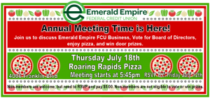 immage of annual meeting flyer including date and time
