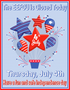 Closed Today, July 4th