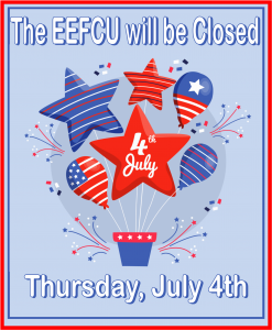 Closed July 4th