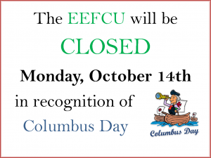 Columbus Day Closure