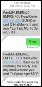 example of text message