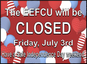 Holiday Closure for July 3rd