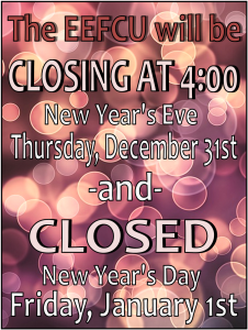 New Year Closure